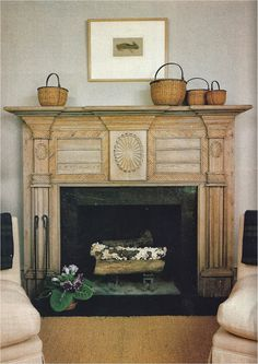 """This carved architectural beauty (mantel) belongs to designer Nancy Braithwaite."""