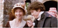 Emma Thompson and Hugh Grant Sense and Sensebility gif