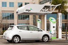 Nissan, Nissan Leaf, electric vehicle, Nissan EV, fast charger, green car, green transportation, eVgo Freedom Station, green car, NRG