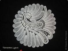 Интерьер Плетение на коклюшках Птица - салфетка елецкие кружева Нитки