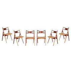 Hans Wegner Sawbuck CH29 Dining Chairs - Set of 6