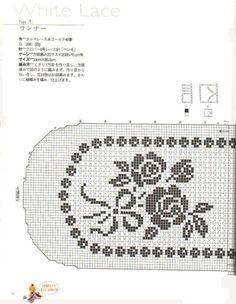 Lace napkins - Marianna Lara - Álbuns da web do Picasa Crochet Table Runner, Crochet Tablecloth, Crochet Doilies, Crochet Lace, Filet Crochet Charts, Crochet Diagram, Doily Patterns, Crochet Patterns, Filets