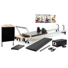 it's easy to enjoy studio–quality workouts on your schedule with Merrithew's best-in-class At Home SPX Pilates Reformer Plus Package. Experience a whisper-smooth ride on the patented rolling carriage