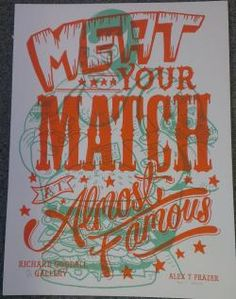 Almost Famous. Manchester. Luchador Green Orange. I have one of these prints.