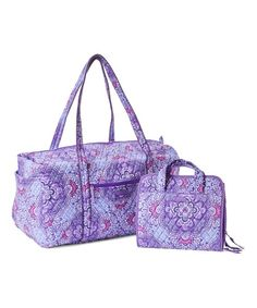 3954fe7b625 Vera Bradley Lilac Tapestry Large Duffel   Hanging Organizer   zulily