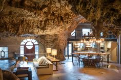 Beckham Creek Cave Lodge is a Lodge in Parthenon. Plan your road trip to Beckham Creek Cave Lodge in AR with Roadtrippers. Arkansas, Underground Hotel, Underground Shelter, Days Hotel, Bomb Shelter, Parthenon, House Inside, House Built, Hidden House