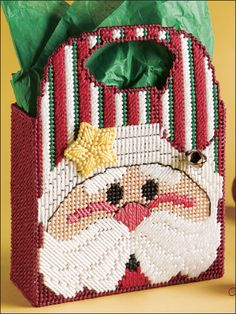 Plastic Canvas - Holiday & Seasonal Patterns - Christmas Patterns - Santa