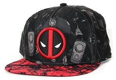 Deadpool- Allover Print Snapback Hat 1 x 1in Marvel https   www. 54b81b793f2