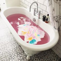 Feeling a bit unwell today, but nothing a good bath can't fix!