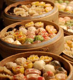 Various Chinese Dim Sum (Yum Cha) Food.