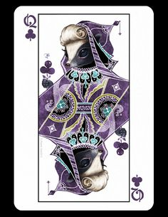 Queens designed by the American illustratorPhoenix Chan (Queens, NY, US). She dedicated them to different animals :) More cards will be coming out soon!© 2013Phoenix Chan The Queen of Spades