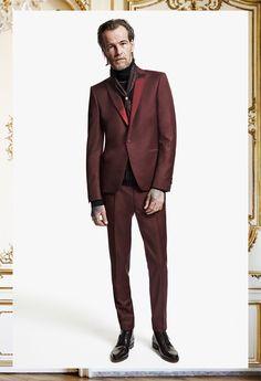 The Kooples Man FW13 #thekooples #burgundy #wool #suit
