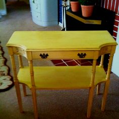 Just finished painting and glazing table my Mom bought the week I was born! Many years ago!!!