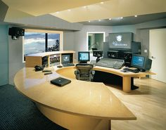 48 Windows Music Mix Console designed by Fahrenheit Studio. This was one of the very first all digital recording studios.