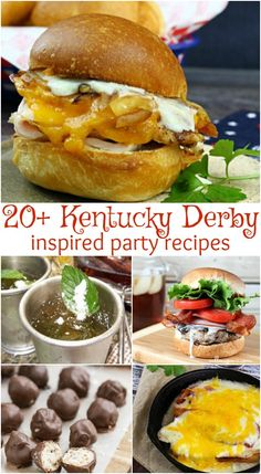 24 Kentucky Derby Party Recipes that will make you swoon including classic and non-traditional easy recipes to take make your party planning easier! Kentucky Derby Food, Kentucky Derby Party Ideas, New Recipes, Healthy Recipes, Party Recipes, Recipies, Derby Recipe, Best Party Food, Healthy Cooking
