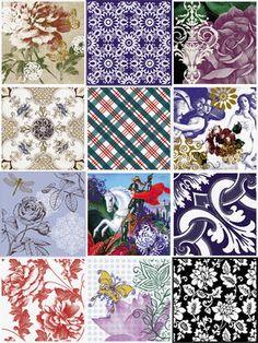 Patchwork Azulejo - http://decortiles.com.br/