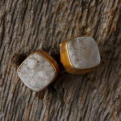 Druzy Stud Earrings in Valentines + Gifts Valentine's Favorites at Terrain