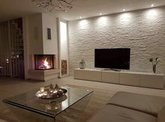 luxury home accents Al Living Room Tv, Living Room Interior, Home Interior Design, Home And Living, Dining Room, Cottage Living Rooms, Design Interiors, Modern Living, Tv Wall Design