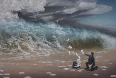Joel Rea is an Australian painter whose work mixes hyperrealism with fantasy. Australian Painters, Australian Artists, Realistic Paintings, Nature Paintings, Oil Paintings, Surreal Artwork, Fantasy Illustration, Photo Look, Magritte