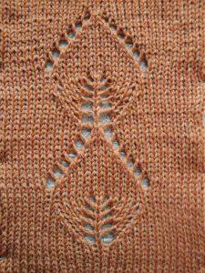 Leaf Lace Knitting Machine Pattern