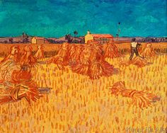 Vincent van Gogh - Wheat Field with Sheaves, 1888