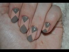 Beżowo brązowe/Beige and brown-nails
