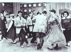 Teenagers dancing on American Bandstand, 1961.