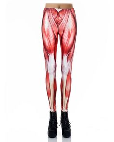 NADANBAO 2016 New Arrival 3D Digital Fashion Unique Red Legins Muscle Leggins Printed Women Leggings