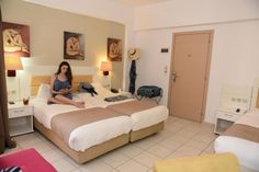 Booking in Crete - Hotel Georgia Crete Hotels, Double Room, Housekeeping, Bed, Artist, Furniture, Home Decor, Decoration Home, Stream Bed