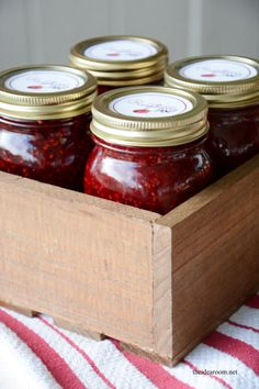 Homemade Raspberry Jam, Apricot Pineapple Jam and Plum Jam Recipes