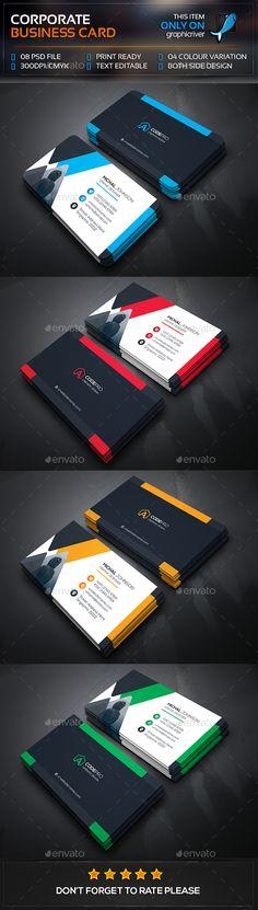 Mega Corporate Business Card Template PSD #visitcard #design Download: http://graphicriver.net/item/mega-corporate-business-card/13472315?ref=ksioks