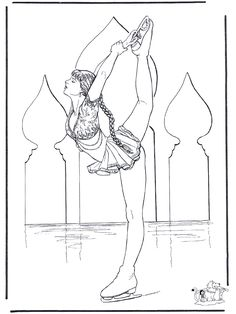 Ice Skater Coloring Page Lovely Figure Skating 5 Teenagers Coloring Pages Dance Coloring Pages, Bee Coloring Pages, Printable Coloring Pages, Coloring Sheets, Coloring Books, Olympic Crafts, Ballet Drawings, Copic Drawings, Skate Art