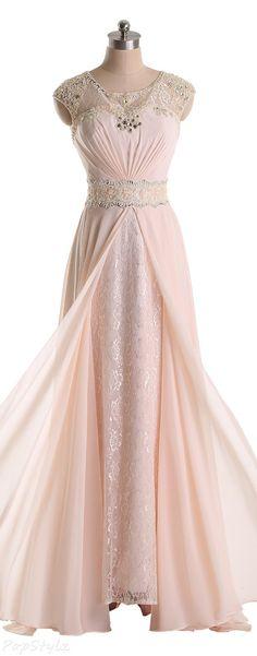 Sunvary Jewel Chiffon & Lace Long Formal Dress