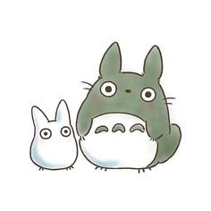 Totoro Drawing, 3d Drawing Pen, Drawing For Kids, Girls Anime, Anime Couples Manga, Cute Anime Couples, Cartoon Tattoos, Cartoon Drawings, Easy Drawings