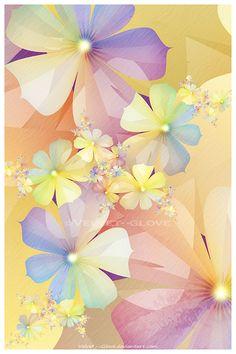 Spring Rainbow by Velvet--Glove at deviantart, fractal flower art Flower Wallpaper, Wallpaper Backgrounds, Wallpapers, Velvet Glove, Pastel Flowers, Fractal Art, Botanical Art, Flower Art, Amazing Art