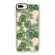 Tropical Leaves - iPhone 7 Plus Case And Cover (€35) ❤ liked on Polyvore featuring accessories, tech accessories, phone cases, iphone case, clear iphone case, iphone cover case, iphone cases and apple iphone case