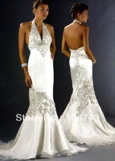 free shipping 2016 new style vestido de noiva marriage Sexy backless  romantic bride beading mermaid wedding dress bridal gown-in Wedding Dresses  from ... ca365057b81f