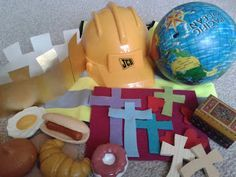 Lord's Prayer:  Flame: Creative Children's Ministry: Lord's Prayer bag for 3-5s