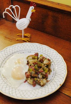 Pastrami Hash with Fried Eggs