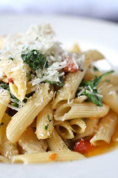 Penne pasta aglio e olio (that's garlic and oil!)