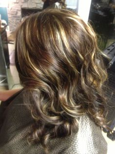 2 step process, 3 amazing colors!! All over 5, then lowlight 3 with blonde highlights!