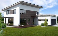Návrhy domu Viva od APEX ARCH s.r.o. Big Living Rooms, Living Room Decor, Bungalow House Design, Mansions, House Styles, Outdoor Decor, Home Decor, Drawing Room Decoration, Decoration Home