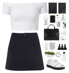 """""""White"""" by f-resh ❤ liked on Polyvore featuring A.P.C., John Lewis, Alexander Wang, Distinctive Designs, The Unbranded Brand, Kiehl's, NARS Cosmetics, Marc by Marc Jacobs, LSA International and Spécimen Editions"""