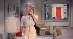 Doris Day's whole apartment in LOVER COME BACK.  And the outfit, though not the hair.