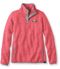 Megan Bos Preppy Style Inspiration |Bean's Sweater Fleece Pullover