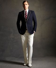 I might need to go shopping . . . Tipped Blazer by Brooks Brothers