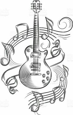 Music note drawing artworks tattoo ideas 33 New Ideas - Music note drawing artworks tattoo ideas 33 New Ideas drawings Music - Music Drawings, Music Artwork, Pencil Art Drawings, Art Drawings Sketches, Cool Drawings, Drawing Music Notes, Music Notes Art, Music Sketch, Guitar Drawing