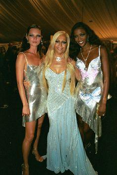 Kate Moss, Donatella Versace and Naomi Campbell.