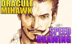 (ONE PIECE) Dracule Mihawk Speed Drawing
