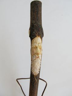 Hiking Stick Walking Stick Hand Carved Wood by NorthWindCarvings